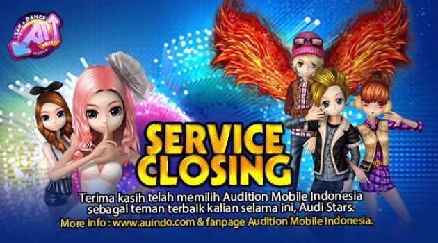 Penutupan Layanan Audition Mobile  Indonesia