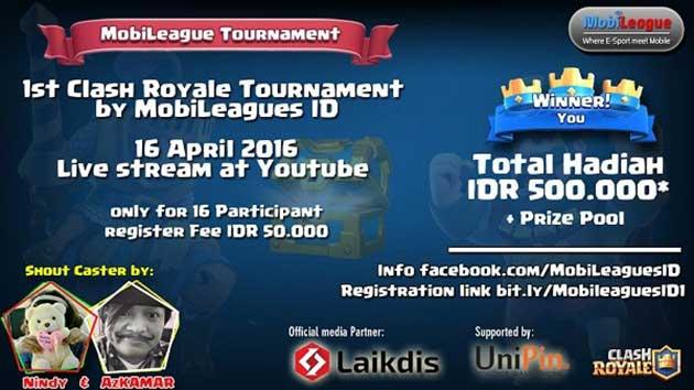 Mobileague Clash Royale Tournament Pertama