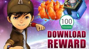 Target 100.000 Download, BoBoiBoy Galactic Heroes Bagi-Bagi Hadiah