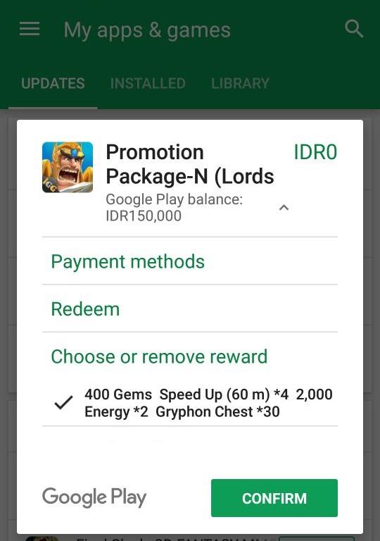 Tersedia di Indomaret, IGG Hadirkan Promo Lords Mobile pada Kartu Hadiah Google Play