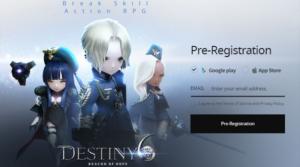 Netmarble Games mengumumkan bahwa mobile RPG terbaru Destiny6