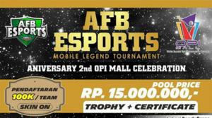 Tournament Mobile Legends AFB ESPORTS di OPI MALL Palembang