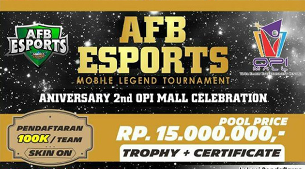 Tournament Mobile Legends AFB ESPORTS di OPI MALL Palembang