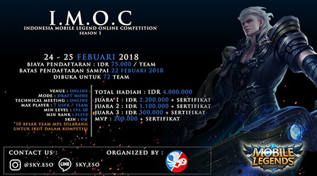 "Turnamen Mobile Legends – IMOC SEASON 1<span class=""wtr-time-wrap after-title""><span class=""wtr-time-number"">1</span> min read</span>"