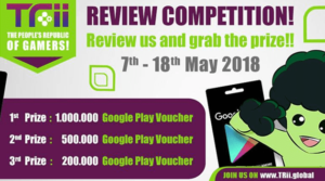 Berikan Honest Review Terbaik, Trii siap hadiakan kamu Jutaan Voucher Google Play