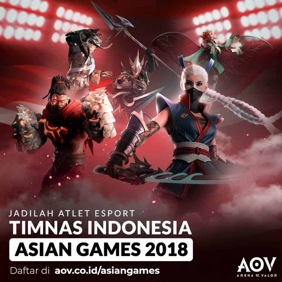 AoV buka pendaftaran calon atlet olahraga elektronik AoV di Asian Game 2018