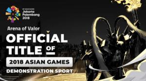 Garena Arena of Valor Menuju Jakarta Sebagai Cabang Olahraga di Asian Games 2018