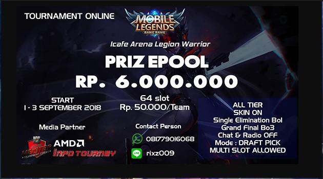 [Turnamen] Mobile Legends – Icafe Arena Legion Warrior