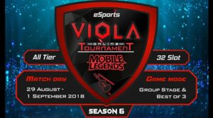 VIOLA eSports Gelar Turnamen Mobile Legends SEASON 6