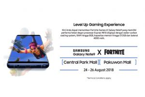 Samsung Gelar Turnamen Fortnite Battle Royale, bagikan Galaxy Note 9 Gratis