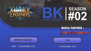 """Info Tournament Online Mobile Legends BK ONLINE SEASON 2<span class=""""wtr-time-wrap after-title""""><span class=""""wtr-time-number"""">1</span> min read</span>"""