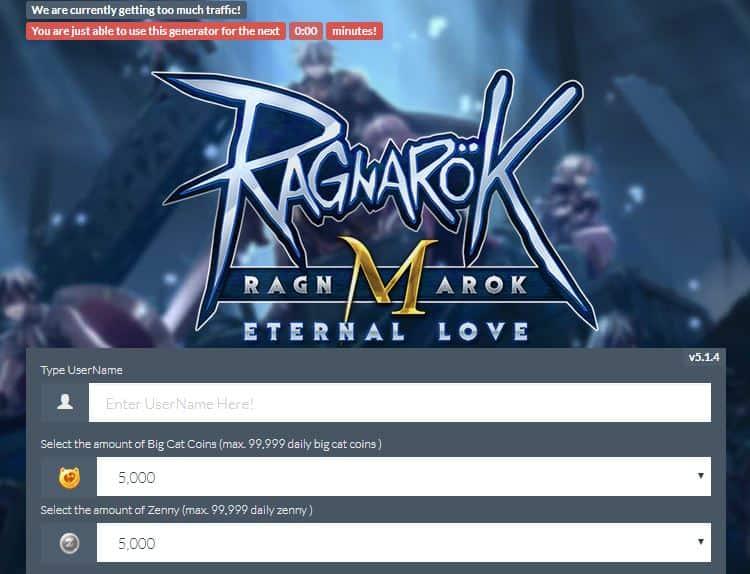 ragnarok m eternal love phising web