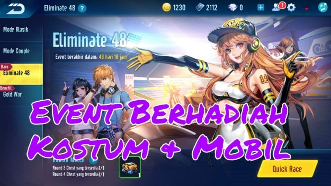 """Event Berhadiah Eliminate 48 Garena Speed Drifters<span class=""""wtr-time-wrap after-title""""><span class=""""wtr-time-number"""">1</span> min read</span>"""