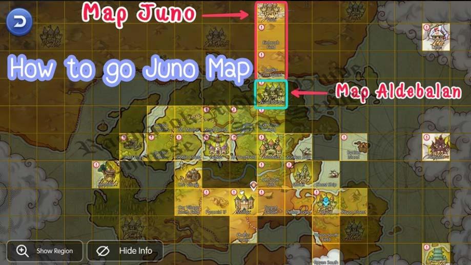 Cara ke Juno Ragnarok M