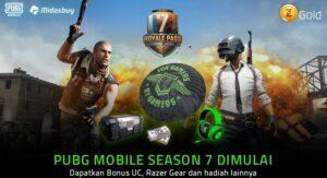 Razer Gold Bagi-bagi Razer Gear dan UC di Season 7 PUBG Mobile