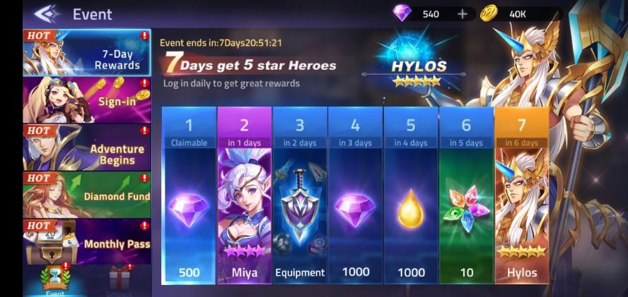 Mobile Legend Adventure Event Launching Gratis Hero SSR