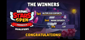 Juarai Brawl Stars Indonesia Open, Alter Ego Melaju ke Kuala Lumpur