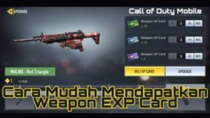 Cara Mudah Dapat Weapon EXP Card Call of Duty Mobile