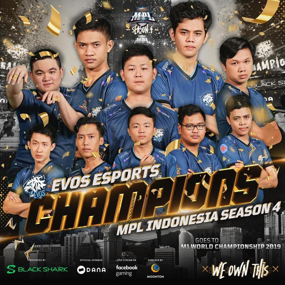Evos Esports Juara MPL ID Season 4